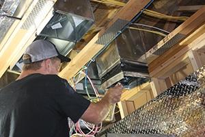 Residential HVAC installation