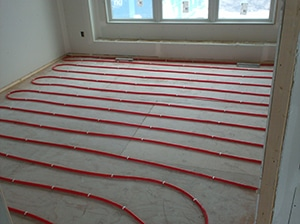 Plumbing, heated floors