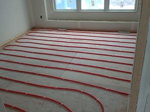 Plumbing, heated floors