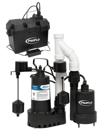 Pre-assembled sump pump system with battery backup specials