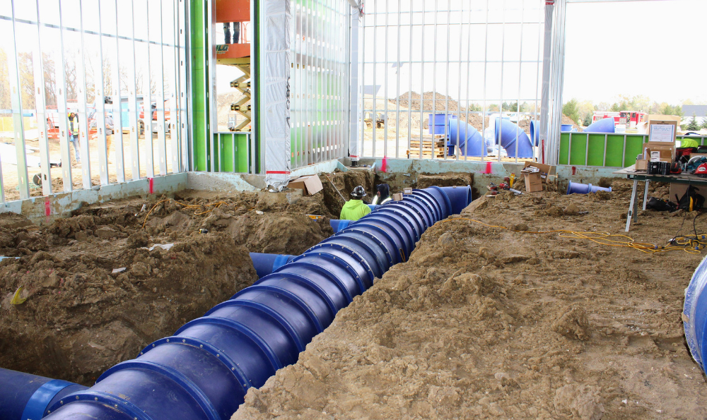 Blue Duct Installation