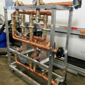 Boiler Rental heat exchanger skid